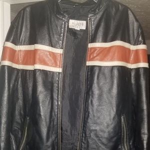 WILSON'S Men's Leather Vintage Retro Striped Leath